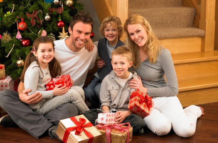 família natal reunida