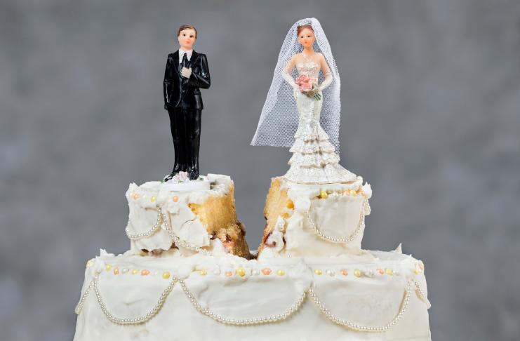Bolo casal separado divorciado