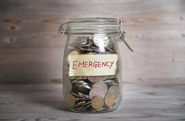 cofre fundo de emergência financeira