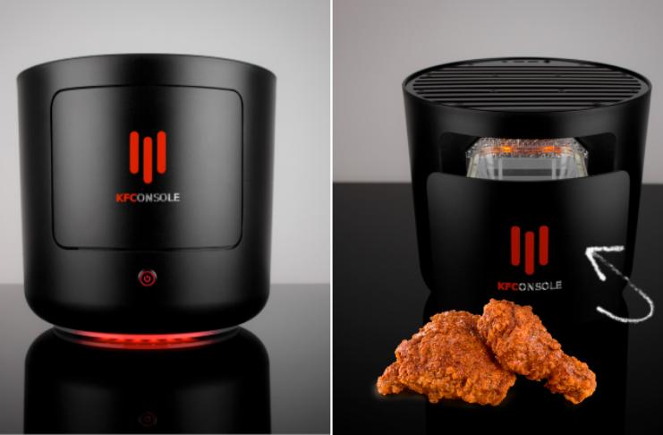 KFC lança console de jogos que mantém seu frango aquecido